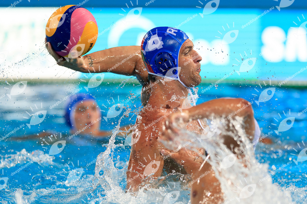 Nikita Dereviankin of Russia<br /> Japan (White cap) vs Russia (Blue Cap) Water Polo - Preliminary round<br /> Day 04 17/07/2017 <br /> XVII FINA World Championships Aquatics<br /> Alfred Hajos Complex Margaret Island  <br /> Budapest Hungary July 15th - 30th 2017 <br /> Photo @Marcelterbals/Deepbluemedia/Insidefoto Photo @Marcelterbals/Deepbluemedia/Insidefoto