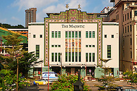 Singapour, Chinatown, ancien cinema Art Deco le Majestic // Singapore, Chinatown, old art deco cinema Majestic