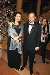 ALEXANDRA SHULMAN and JONATHAN NEWHOUSE at the Feast of Albion a sumptious locally-sourced banquet in aid of The Soil Association held at The Guildhall, City of London on 12th March 2008.<br />