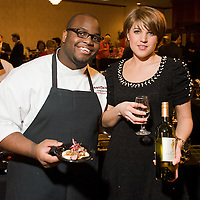 Exec Chef Kareem Michael and Marina Saenko from Aquitain at Flavors of Neponset Valley 2011