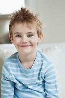 Portrait of cute little boy smiling