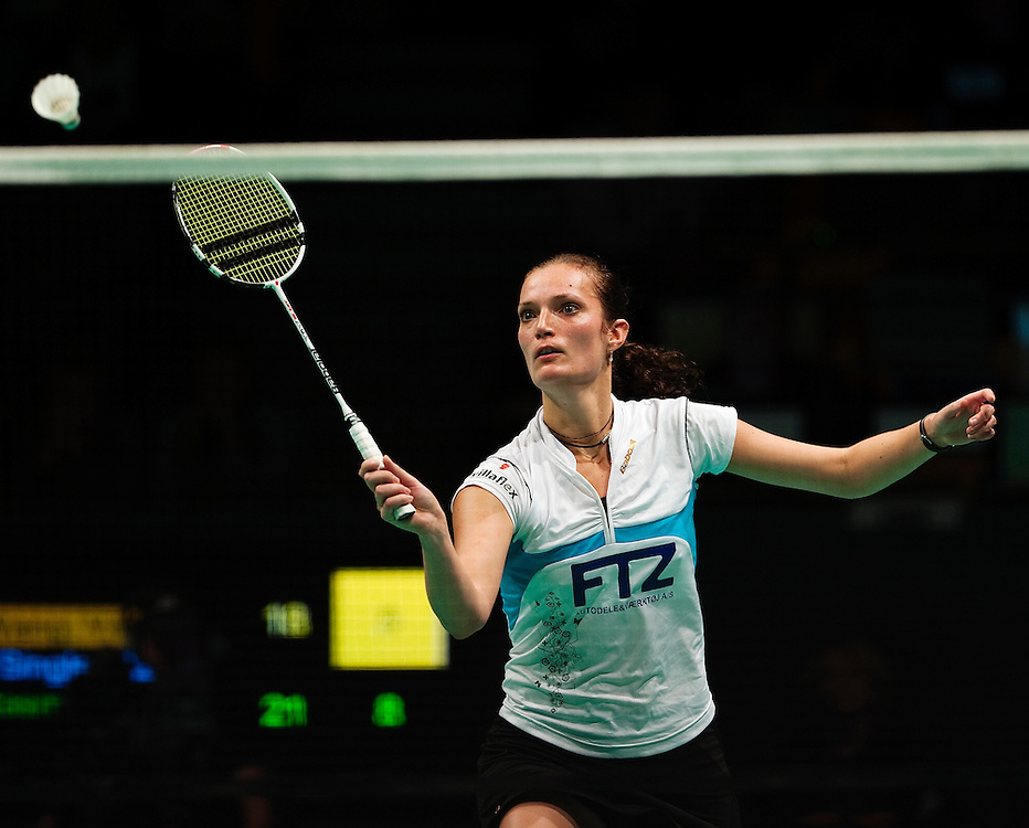 DK -  Odense..24/10/09..Denmark Open.Finale dame single Tine Rasmussen vinder over Yihan Wang, Kina...Photo: Johnny Anthon Wichmann