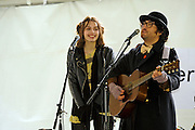 Sean Lennon and Charlotte Kemp Muhl, Ghost of a Saber Tooth Tiger performing at the Press Here Garden Party at the French Legation, South by Southwest Music Conference, Austin Texas, March 20, 2010.