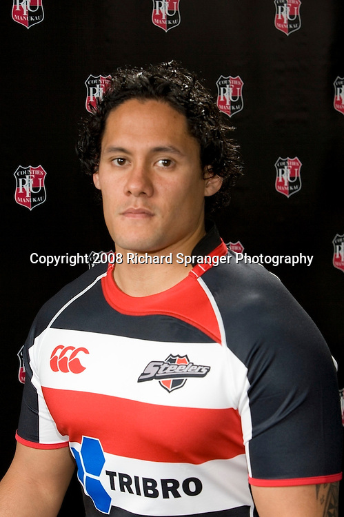 Tasesa Lavea. Counties-Manukau Steelers ANZ Cup Rugby headshots 2008. Photo: Richard Spranger Photography/PHOTOSPORT