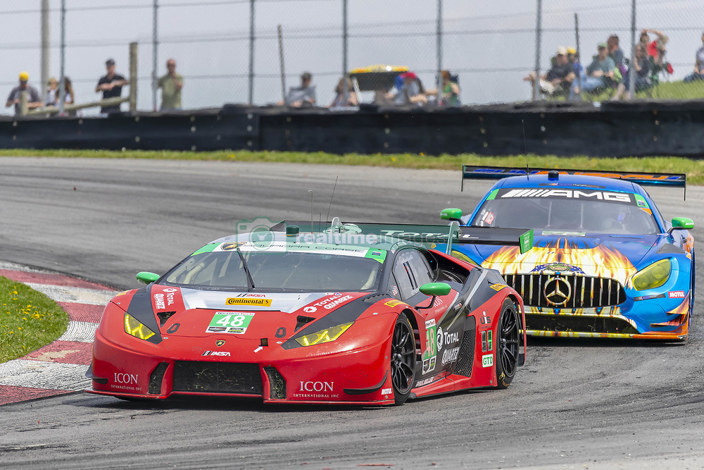 May 6, 2018 - Lexington, Ohio, United States of America - The Paul Miller Racing TOTAL/Universal Industrial Sales Lamborghini Huracan GT3 car races through the keyhole turn during the the Acura Sports Car Challenge at Mid Ohio Sports Car Course in Lexington, Ohio. (Credit Image: © Walter G Arce Sr Asp Inc/ASP via ZUMA Wire)