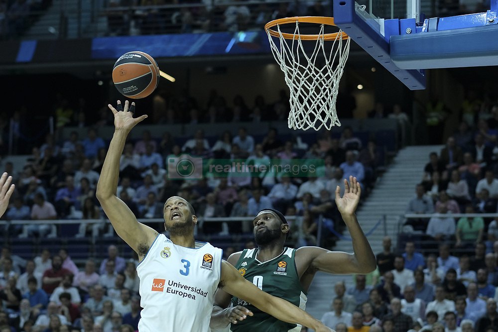 April 25, 2018 - Madrid, Madrid, Spain - ANTHONY RANDOLPH  of Real Madrid during the Turkish Airlines Euroleague play-off quarter final series third match between Real Madrid and Panathinaikos Superfoods at the Wizink Center in Madrid, Spain on April 25, 2018  (Credit Image: © Oscar Gonzalez/NurPhoto via ZUMA Press)