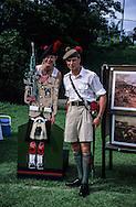Hong Kong. farewell of the  - Black watch -  (British army) at Stanley fort  tug of war, beating retreat   / Journée d'adieu du bataillon écossais   - Black Watch -  armée GB à Fort Stanley:   / R00057/58    L940626  /  P0000306
