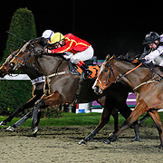 Teen Ager and Jimmy Quinn winning the 7.10 race