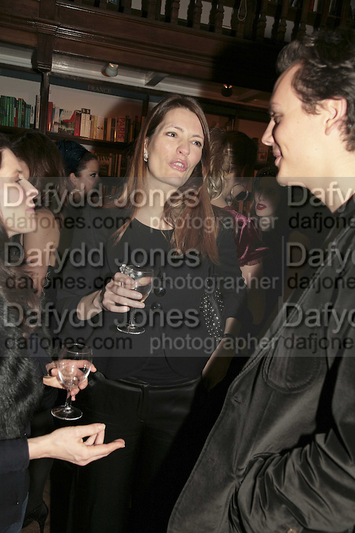 Plum Sykes, Book launch of Pretty Things by Liz Goldwyn at Daunt <br />Books, Marylebone High Street. London 30 November 2006.   ONE TIME USE ONLY - DO NOT ARCHIVE  &copy; Copyright Photograph by Dafydd Jones 248 CLAPHAM PARK RD. LONDON SW90PZ.  Tel 020 7733 0108 www.dafjones.com