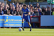 AFC Wimbledon defender Will Nightingale (5) dribbling and starting an attack during the EFL Sky Bet League 1 match between AFC Wimbledon and Southend United at the Cherry Red Records Stadium, Kingston, England on 25 March 2017. Photo by Matthew Redman.