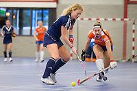 HEEMSKERK- Zaalhockey - Bloemendaal-Pinoke . Saskia Reuhman van Pinoke .  Copyright Koen Suyk