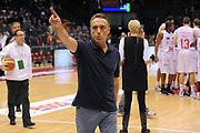 DESCRIZIONE : Milano Lega A 2010-11 Armani Jeans Milano Lottomatica Roma<br /> GIOCATORE : Coach Piero Bucchi<br /> SQUADRA : Armani Jeans Milano<br /> EVENTO : Campionato Lega A 2010-2011<br /> GARA : Armani Jeans Milano Lottomatica Roma<br /> DATA : 21/11/2010<br /> CATEGORIA : Ritratto Esultanza<br /> SPORT : Pallacanestro<br /> AUTORE : Agenzia Ciamillo-Castoria/A.Dealberto<br /> Galleria : Lega Basket A 2010-2011<br /> Fotonotizia : Milano Lega A 2010-11 Armani Jeans Milano Lottomatica Roma<br /> Predefinita :