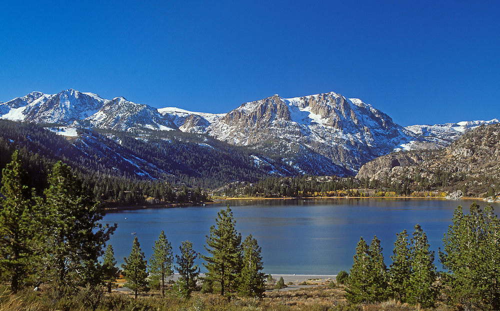 June Lake, a year round recreation area in the eastern Sierra Nevada Mountains; Inyo National Forest, California..