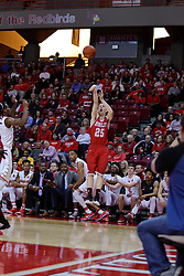 11 February 2017:  Nate Kennell during a College MVC (Missouri Valley conference) mens basketball game between the Bradley Braves and Illinois State Redbirds in  Redbird Arena, Normal IL