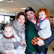 ND/Amsterdam/20130322- Onthulling Buddha2Buddha motor, tvkok Casper Burgi, partner Barbara en kinderen