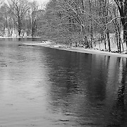 """""""Riverside Park Reflections""""<br /> <br /> Enter into a peaceful and tranquil state with this lovely winter scene along the Huron River! A quiet morning snowfall in Michigan!"""