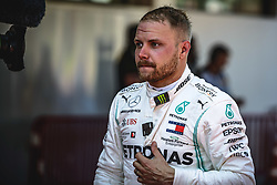 May 12, 2019 - Barcelona, Catalonia, Spain - VALTTERI BOTTAS (FIN) from team Mercedes  looks on after finishing second at the Spanish GP on the podium at the Circuit de Barcelona - Catalunya (Credit Image: © Matthias Oesterle/ZUMA Wire)