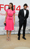 Moran Atias was present at the Film Festival of Ostend to inaugurate a star with his name on the promenade front of the sea with Adrien Brody. Ostend, Belgium, 19 September 2014l