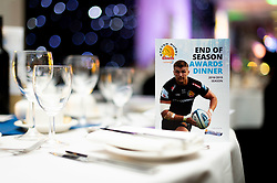 Table decorations prior to guest arrivals - Ryan Hiscott/JMP - 16/05/2019 - SPORT - Sandy Park - Exeter, England - Exeter Chiefs End of Season Awards