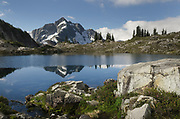 Whatcom Peak reflected in Tapto Lake, North Cascades National Park