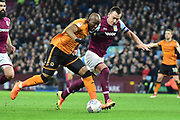 Wolverhampton Wanderers defender (on loan from Porto ) Willy Boly (15) battles for possession  with Aston Villa defender John Terry (26) during the EFL Sky Bet Championship match between Aston Villa and Wolverhampton Wanderers at Villa Park, Birmingham, England on 10 March 2018. Picture by Dennis Goodwin.
