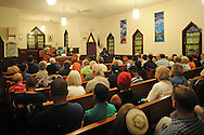 Rev. Ethel Moore speaks to participants during an Interfaith Prayer Service for peace, racial justice and reconciliation Tuesday June 23, 2015 in Langhorne, Pennsylvania. (Photo by William Thomas Cain)