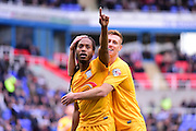 Preston North End Forward Daniel Johnson (11) celebrates to his fans during the Sky Bet Championship match between Reading and Preston North End at the Madejski Stadium, Reading, England on 30 April 2016. Photo by Jon Bromley.