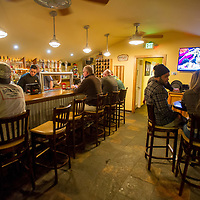 Visitors enjoy the Big Bear Lake Brewing Company in Big Bear Lake, Friday, March, 10, 2017. Big Bear entrepreneur David Stone is the owner of The Cave, Big Bear Lake Brewing Company and the soon to open Black Kat restaurant. (Eric Reed/For The Sun/SCNG)