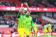 West Bromwich Albion midfielder Grady Diangana (29) celebrates after the West Bromwich Albion victory following the EFL Sky Bet Championship match between Middlesbrough and West Bromwich Albion at the Riverside Stadium, Middlesbrough, England on 19 October 2019.