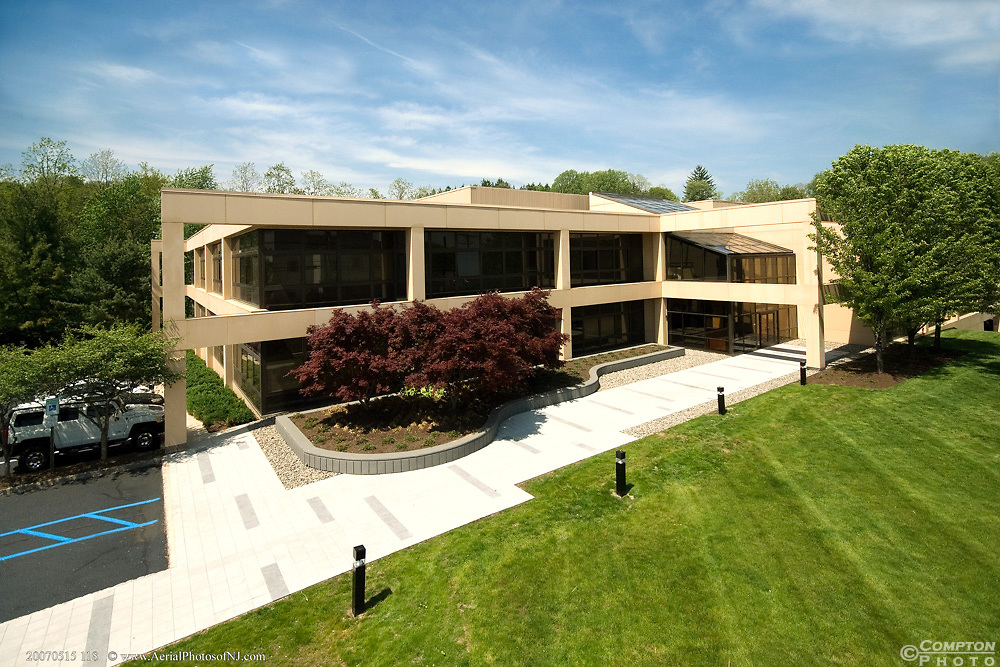 Elevated mast image of an office building in Bernardsville NJ.
