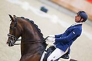 Ferdy Kersten - Deutschmark<br /> KNHS Indoorkampioenschappen 2016<br /> © DigiShots