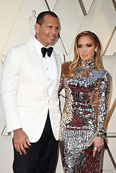 Alex Rodriguez and Jennifer Lopez walking the red carpet as arriving to the 91st Academy Awards (Oscars) held at the Dolby Theatre in Hollywood, Los Angeles, CA, USA, February 24, 2019. Photo by Lionel Hahn/ABACAPRESS.COM
