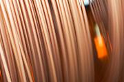 Copper pipe details - blurred