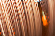 Copper pipe details - blurred
