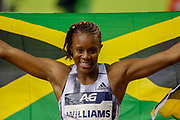 Danielle Williams (Jamaica), winner of the Women's 100m Hurdles during the IAAF Diamond League event at the King Baudouin Stadium, Brussels, Belgium on 6 September 2019.