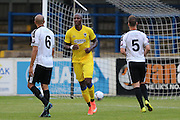 AFC Wimbledon striker Tom Elliott (9) scores from the penalty spot during the Pre-Season Friendly match between Dover Athletic and AFC Wimbledon at Crabble Athletic Ground, Dover, United Kingdom on 12 July 2016. Photo by Stuart Butcher.