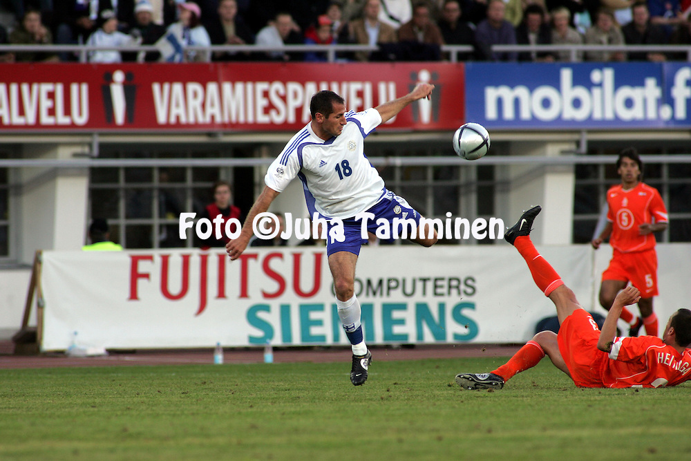 08.06.2005, Olympic Stadium, Helsinki, Finland..FIFA World Cup 2006 Qualifying Match, .Finland v The Netherlands.Shefki Kuqi - Finland.©Juha Tamminen.....ARK:k