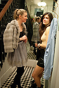 IVANA HRNJEZ; LEILA DUPUY, Party hosted for ~Jason Wu by Plum Sykes and Christine Al-Bader. Ladbroke Grove. London. 22 March 2011. -DO NOT ARCHIVE-© Copyright Photograph by Dafydd Jones. 248 Clapham Rd. London SW9 0PZ. Tel 0207 820 0771. www.dafjones.com.