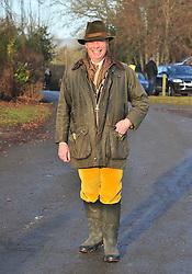 © Licensed to London News Pictures. 26/12/2016<br /> Nigel Farage arriving at todays hunt.<br /> Boxing Day Hunt.<br /> Old Surrey Burstow and West Kent Hunt at Chiddingstone Castle, Chiddingstone in Kent.<br /> Photo credit :Grant Falvey/LNP