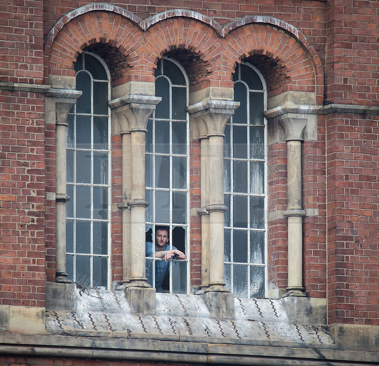 © Licensed to London News Pictures . 15/09/2015 . Manchester , UK . STUART HORNER inside the rotunda on the roof at HMP Manchester (formerly Strangeways Prison ), this morning (15th September 2015) . Photo credit : Joel Goodman/LNP