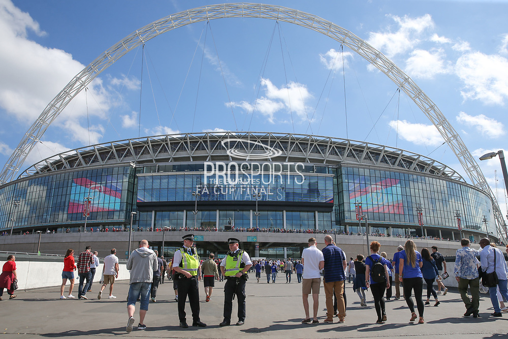 Increased police presence for todays final during the The FA Cup final match between Arsenal and Chelsea at Wembley Stadium, London, England on 27 May 2017. Photo by Shane Healey.