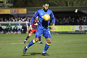 AFC Wimbledon midfielder Liam Trotter (14) dribbling during the EFL Sky Bet League 1 match between AFC Wimbledon and Blackburn Rovers at the Cherry Red Records Stadium, Kingston, England on 27 February 2018. Picture by Matthew Redman.