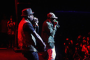 September 22, 2012- Los Angeles, CA:  Recording Artists BlackStar perform at the Lyricist Lounge 20th Year Reunion Party-Los Angeles held at Club Nokia at LA Live on September 22, 2012 in Los Angeles, California. The Lyricist Lounge is a hip hop showcase of rappers, emcees, DJ's, and Graffiti artists. It was founded in 1991 by hip hop aficionados Danny Castro and Anthony Marshall. It was a series of open mic events hosted in a small studio apartment in the Lower East Side section of New York City. (Terrence Jennings)