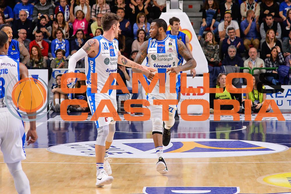 Achille Polonara, Shawn Jones<br /> Banco di Sardegna Dinamo Sassari - Germani Basket Leonessa Brescia<br /> Legabasket Serie A LBA PosteMobile 2017/2018<br /> Sassari, 08/04/2018<br /> Foto L.Canu / Ciamillo-Castoria