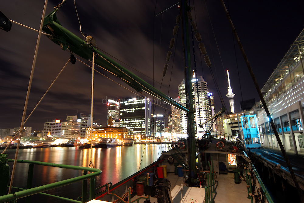 Auckland, New Zealand, from the deck of the Rainbow Warrior, moored at Prince's Wharf 24/5/2005