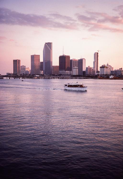 Vintage Miami Skyline circa 1985