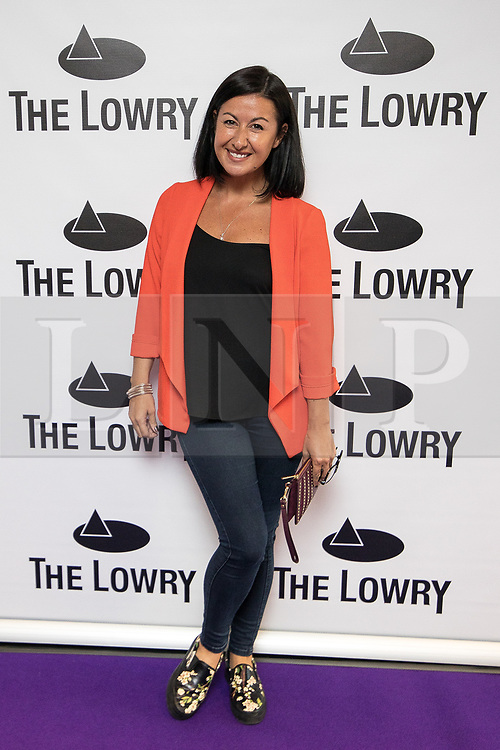 © Licensed to London News Pictures . 30/08/2017 . Salford , UK . Hayley Tamaddon . Purple carpet photos of celebrities, actors and invited guests arriving for the press night of the musical comedy , Addams Family , at the Lowry Theatre . Photo credit : Joel Goodman/LNP