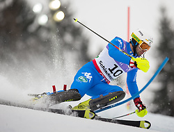 17.02.2013, Planai, Schladming, AUT, FIS Weltmeisterschaften Ski Alpin, Slalom, Herren, 1. Durchgang, im Bild Patrick Thaler (ITA) // Patrick Thaler of Italy in action during 1st run of the mensSlalom at the FIS Ski World Championships 2013 at the Planai Course, Schladming, Austria on 2013/02/17. EXPA Pictures © 2013, PhotoCredit: EXPA/ Johann Groder
