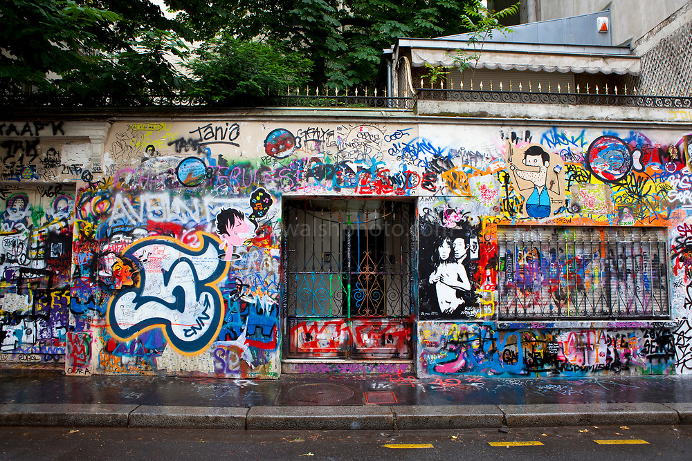 The house of Serge Gainsbourg, 5 Bis Rue de Verneuil, 75006 Paris, France.  La maison de Serge Gainsbourg.