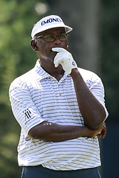 August 9, 2018 - Town And Country, Missouri, U.S - VIJAY SINGH from Fiji studies the 13th hole before teeing off during round one of the 100th PGA Championship on Thursday, August 8, 2018, held at Bellerive Country Club in Town and Country, MO (Photo credit Richard Ulreich / ZUMA Press) (Credit Image: © Richard Ulreich via ZUMA Wire)